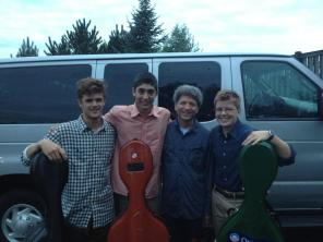 Ronald Braunstein and cellists