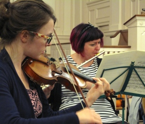Two Musicians at a recent rehearsal