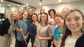 Me2_Boston Flute Choir - first rehearsal