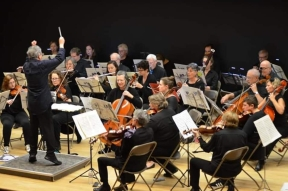 Me2:Orchestra on stage at Lesley Univ
